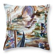 Venice Impression I Throw Pillow