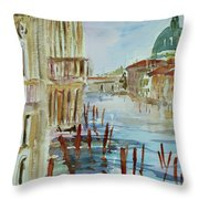 Venice Impression IIi Throw Pillow