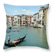 Venice In Colors Throw Pillow