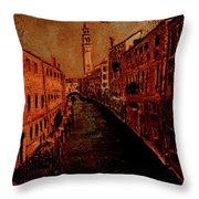 Venice In Golden Sunlight Throw Pillow