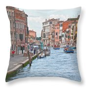 Venice In Pastel  Throw Pillow by Heiko Koehrer-Wagner