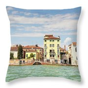 Venice In Summer  Throw Pillow