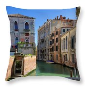 Venice Italy Canal And Lovely Old Houses Throw Pillow