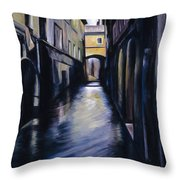 Venice Throw Pillow by James Christopher Hill