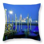 Venice Lagoon At Dusk Throw Pillow