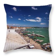 Venice Lagoon Panorama - Bird View Throw Pillow