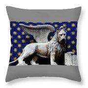 Venice Lion Throw Pillow