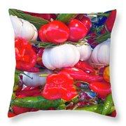 Venice Market Goodies Throw Pillow