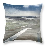 Venice Northern Lagoon  Throw Pillow