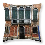 Venice Old Palace Throw Pillow by Julian Perry