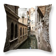 Venice One Way Street Throw Pillow by Milan Mirkovic