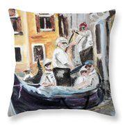 Venice Party Throw Pillow
