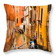 Venice Passage Throw Pillow