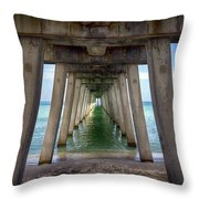 Venice Pier Throw Pillow