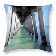 Venice Pier - Florida Throw Pillow