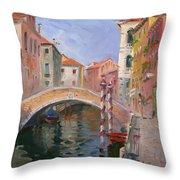 Venice Ponte Vendrraria Throw Pillow