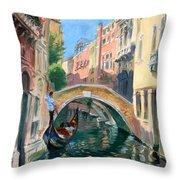 Venice Ponte Widmann Throw Pillow