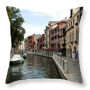 Venice Postcard Throw Pillow