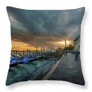Venice Promenade Throw Pillow