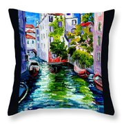 Venice Reflection Throw Pillow