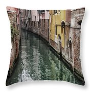 Venice - Reflections Throw Pillow