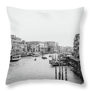 Venice Taxi Ride Throw Pillow