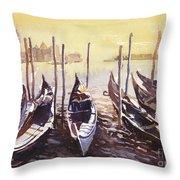 Venice Watercolor- Italy Throw Pillow
