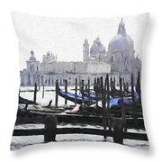 Venice Waterfront Throw Pillow