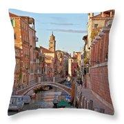 Venice Waterway Throw Pillow