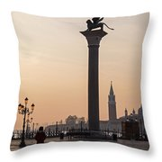 Venice - Winged Lion Of St Mark Throw Pillow