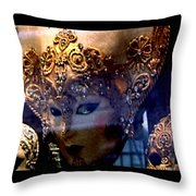 Venician Masks Throw Pillow