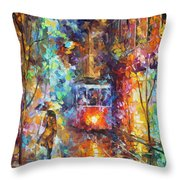 vening Trolley  Throw Pillow