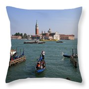 Venitian Lagoon Throw Pillow