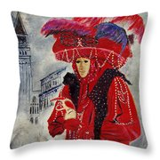 Venitian Mask 0130 Throw Pillow
