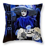 Venitian Mask  Throw Pillow