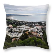 Ventura Coast Skyline Throw Pillow