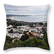 Ventura Coast Skyline Throw Pillow