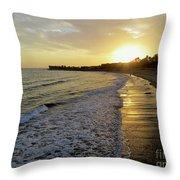 Ventura Gold Throw Pillow