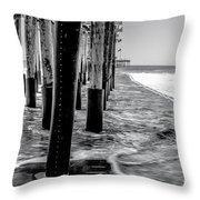 Ventura Pier Bxw Throw Pillow