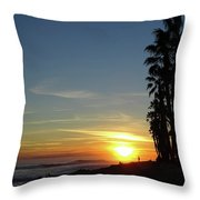 Ventura Sunset Throw Pillow