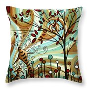 Venturing Out By Madart Throw Pillow
