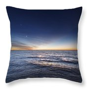 Venus And Jupiter In Conjunction Throw Pillow