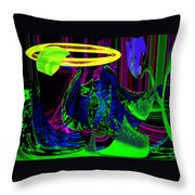 Venus Flowera Throw Pillow