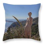 Venus In Eze's Garden Throw Pillow