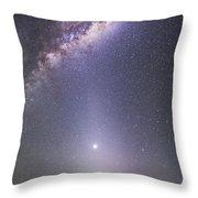 Venus In Zodiacal Light Throw Pillow