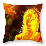 Venus Is Home Throw Pillow
