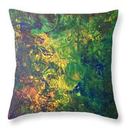 Venus Lunar Surface Throw Pillow
