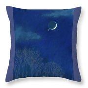 Venus Moon Conjunction Throw Pillow