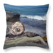 Venus Off The Shell Throw Pillow