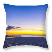 Venus Setting Above Keiki Beach At Dusk Throw Pillow